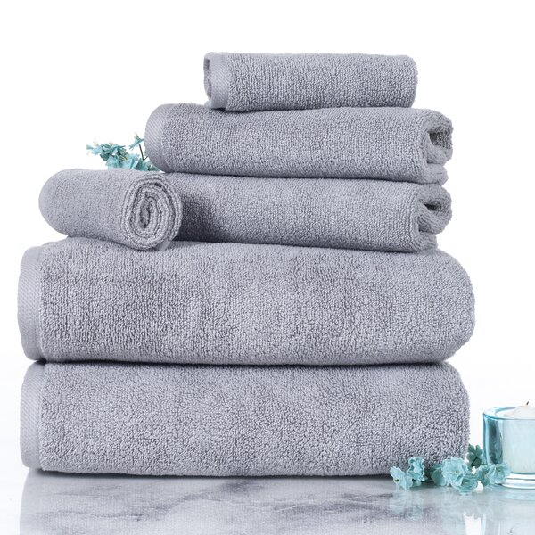 6 Piece 100% Cotton Towel Set by Plymouth Home
